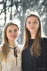 zusjes op station Geldrop