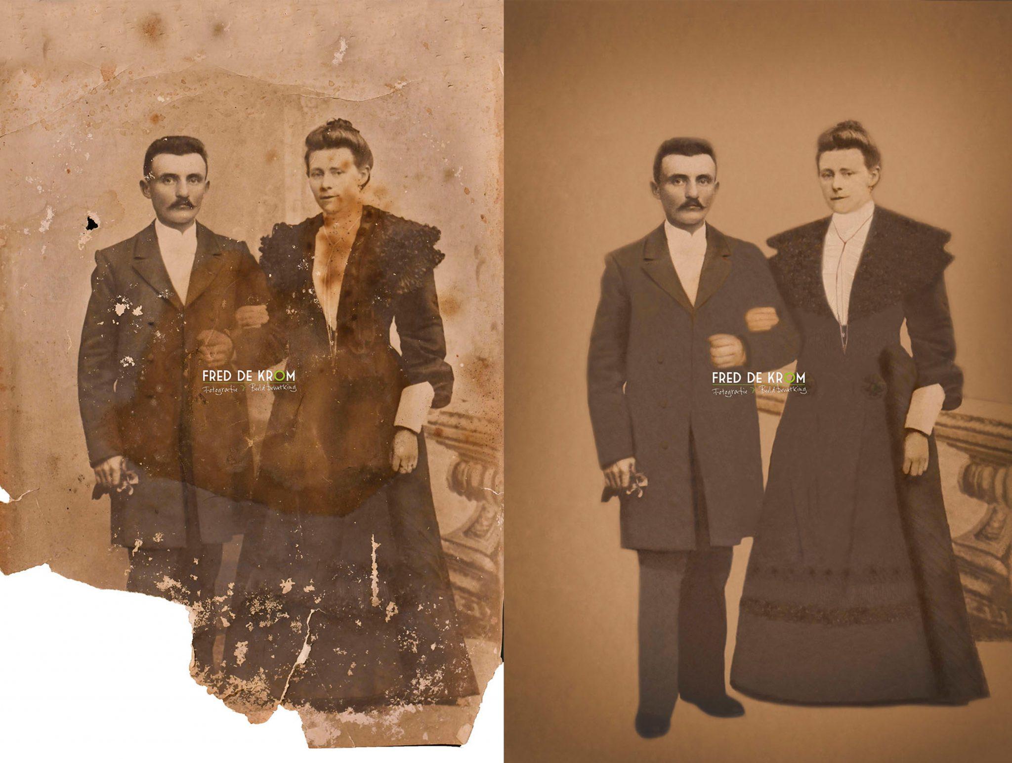 Foto restauratie_uw oude foto's weer als nieuw_herstel van uw oude en beschadigde foto's